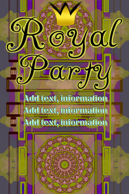 Royal Party - green & violet