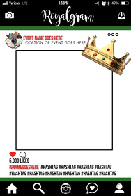 Royal Party Prop Frame