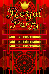 Royal Party - red with crown