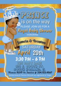 Royal Prince Baby Blue & Gold
