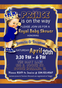 Royal Prince Brunett Baby Shower