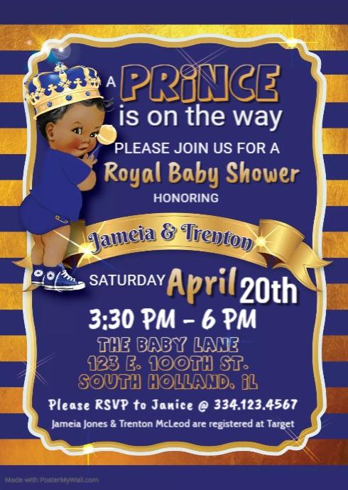 Royal Prince Brunett Baby Shower
