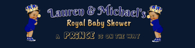 Royal Prince Light Skin Baby Shower Banner