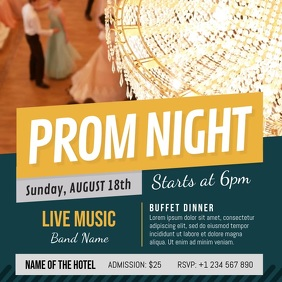 Royal Prom Night Invitation Square Video template
