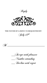 RSVP CARD (Black and White)