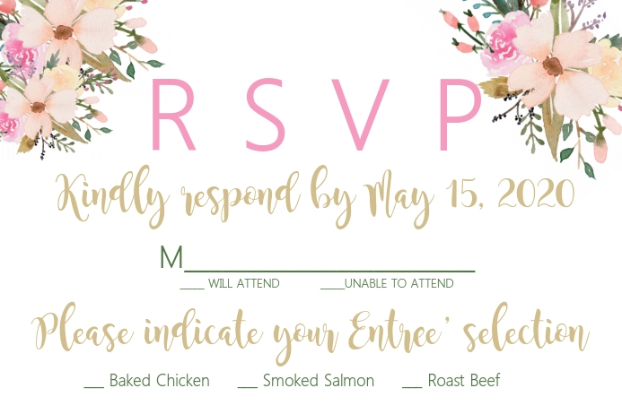 RSVP CARD Poster template
