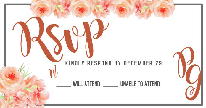 RSVP FOR WEDDING INVITATION
