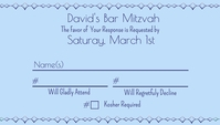 RSVP Matching Bar Mitzvah Business Card template