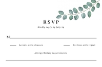 RSVP Wedding Invitation Template Label