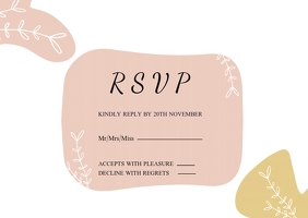 rsvp wedding thank you card