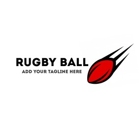 Rugby ball logo template