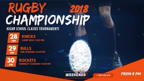 Rugby Championship Tournament Digital Display Video template