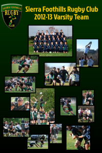 Rugby Club Sports Team Poster Template