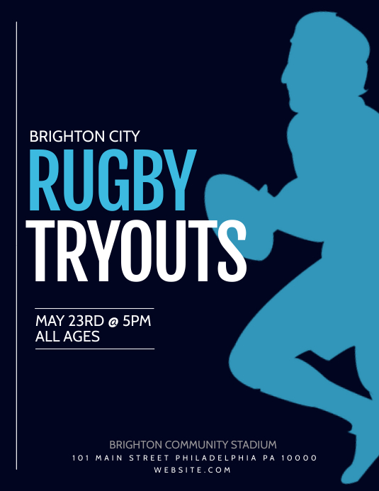 Rugby Flyer (US Letter) template