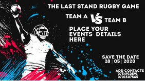 Rugby event Flyer Miniatura na YouTube template