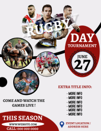 RUGBY EVENT TOURNAMENT Flyer Template