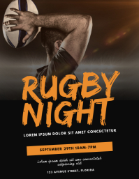 Rugby Flyer Design Template