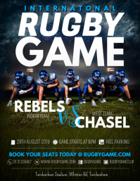 Rugby Game Poster Template