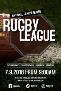 Rugby League Poster Template Плакат