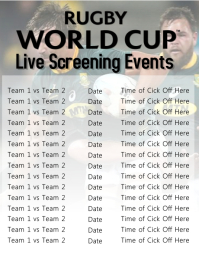 Rugby Live Screening Event Flyer Template