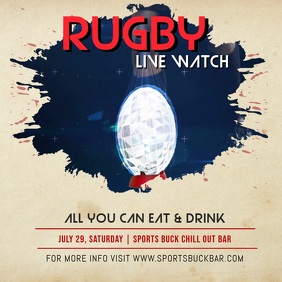 Rugby Live Screening Instagram Video Квадрат (1 : 1) template