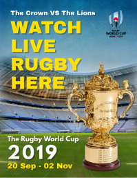 Rugby Live Screening Poster Template