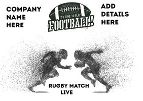 Rugby Match Poster Postcard template
