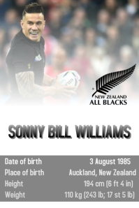 RUGBY POSTER template