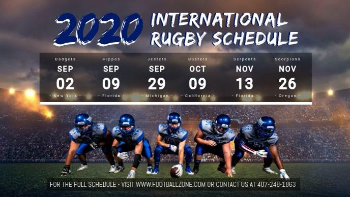 Rugby Schedule Digital Display Video