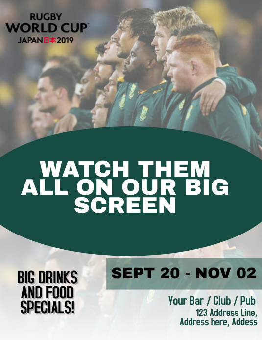 Rugby Screening Event Flyer Template