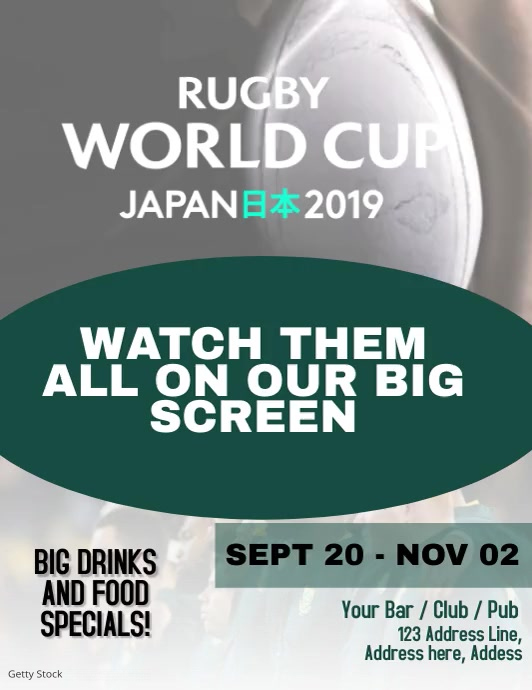 Rugby Screening Event Video Flyer Template