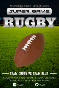 Rugby Tournament Poster Template Плакат