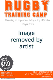 Rugby Training Camp Template