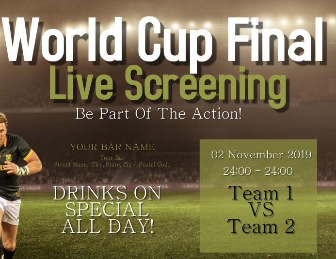 Rugby World Cup Final Screening Event