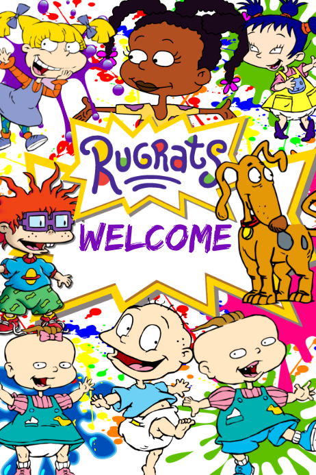 Rugrats Backdrop Banner 4' × 6' template