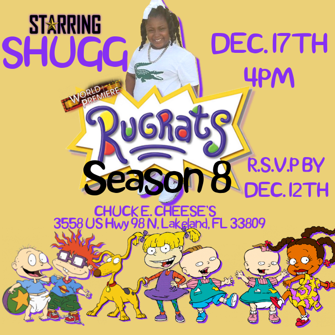 RUGRATS INVITE Template | PosterMyWall