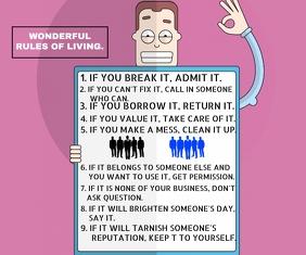 RULE OF LIVING BOARD QUOTE TEMPLATE Большой прямоугольник