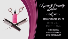 Rumers Beauty Salon Business Card