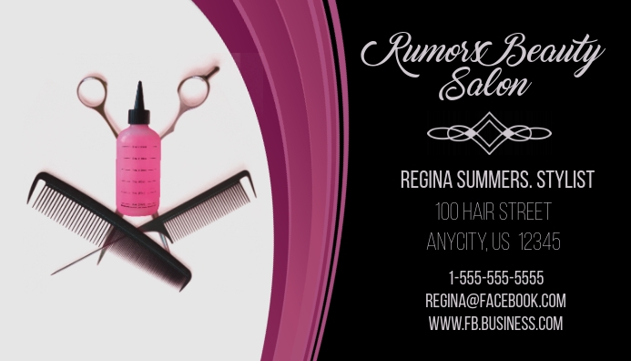 Rumers Beauty Salon Business Card