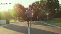 Run and be healthy and road Уменьшенное изображение YouTube template