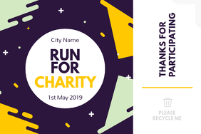 Run for Charity Label Étiquette template