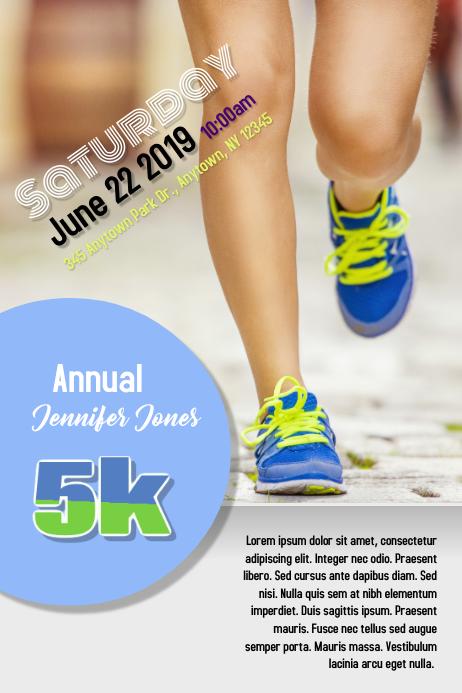 Run Race Benefit Flyer
