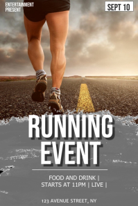 Running event flyer template Poster