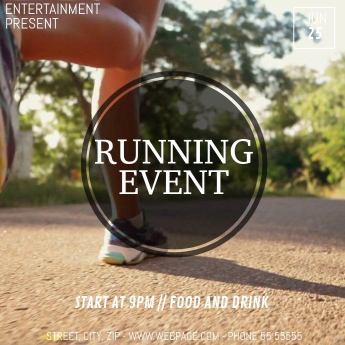 Running event video flyer template