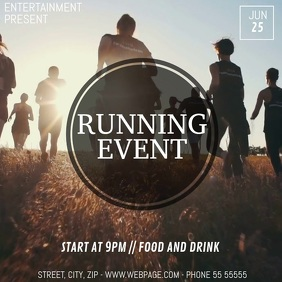Running event video flyer template 方形(1:1)
