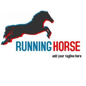 Running horse logo deisgn template