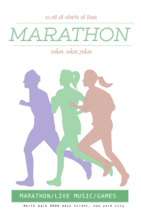 Running marathon flyer template