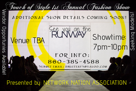 RUNWAY SHOW Affiche template
