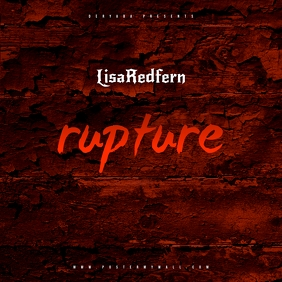 Rupture Red Mixtape CD Cover Template