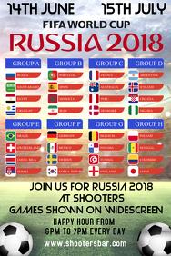 Russia 2018 Bar Flyer Template